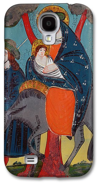 Holy Galaxy S4 Cases - The Flight Into Egypt Glass Painting Galaxy S4 Case by Austrian School