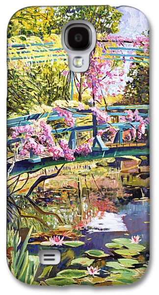 Gardenscapes Galaxy S4 Cases - The Footbridge At Giverny Galaxy S4 Case by David Lloyd Glover