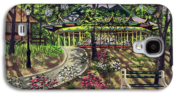 Carousel Horse Paintings Galaxy S4 Cases - The Forest Park Carousel Galaxy S4 Case by Madeline  Lovallo