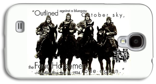 The Four Horsemen Of Notre Dame Galaxy S4 Case by David Patterson