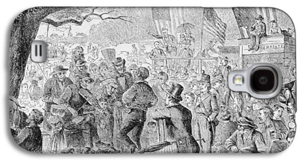 4th Galaxy S4 Cases - The Fourth Of July, Illustration From Harpers Weekly, 1867, From The Pageant Of America, Vol.3 Galaxy S4 Case by Charles J. Bush