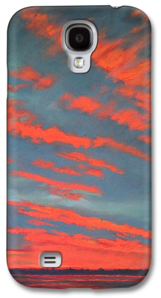 Sunset Abstract Pastels Galaxy S4 Cases - The Fourth of July Galaxy S4 Case by Pamela Heward