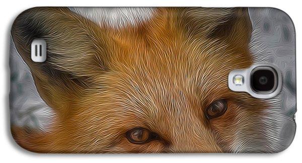 Fox Digital Galaxy S4 Cases - The Fox 4 Digital Art Galaxy S4 Case by Ernie Echols