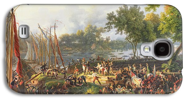 Republican Paintings Galaxy S4 Cases - The French Army crossing the Rhine at Dusseldorf Galaxy S4 Case by Louis Lejeune