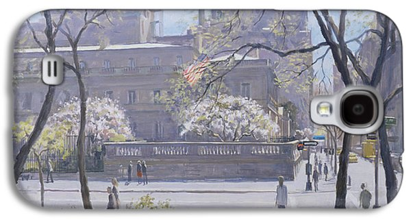 Manhattan Street Galaxy S4 Cases - The Frick Gallery, 1997 Oil On Canvas Galaxy S4 Case by Julian Barrow