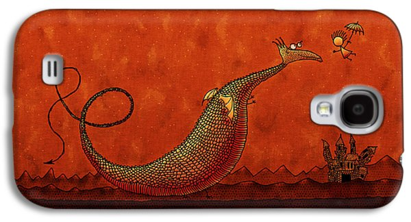 Abstract Digital Galaxy S4 Cases - The Friendly Dragon Galaxy S4 Case by Gianfranco Weiss