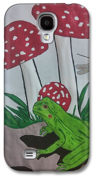 Etc. Drawings Galaxy S4 Cases - The Frog and Mushroom Galaxy S4 Case by Earnestine Clay