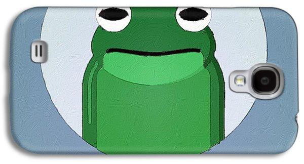 The Frog Cute Portrait Galaxy S4 Case by Florian Rodarte
