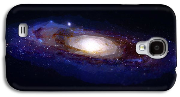 Galaxy Paintings Galaxy S4 Cases - The galaxy Galaxy S4 Case by Celestial Images