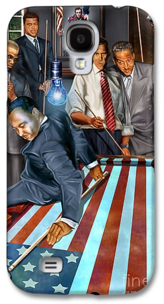 Obama Galaxy S4 Cases - The Game Changers and Table runners Galaxy S4 Case by Reggie Duffie
