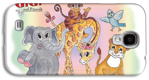 Animation Paintings Galaxy S4 Cases - GiGi and Friends Galaxy S4 Case by John Keaton