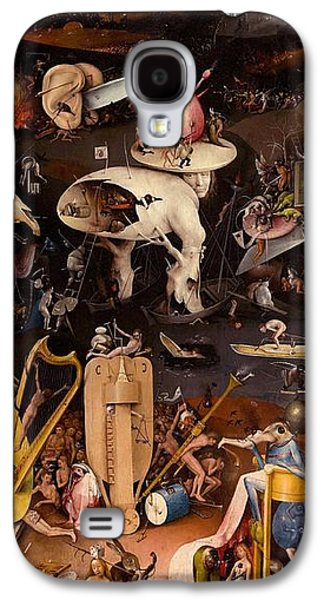 Moral Paintings Galaxy S4 Cases - The Garden of Earthly Delights - right wing Galaxy S4 Case by Hieronymus Bosch
