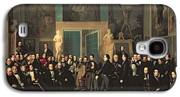 Statue Portrait Galaxy S4 Cases - The Gathering Of The Poets, 1846 Oil On Canvas Galaxy S4 Case by Antonio Maria Esquivel