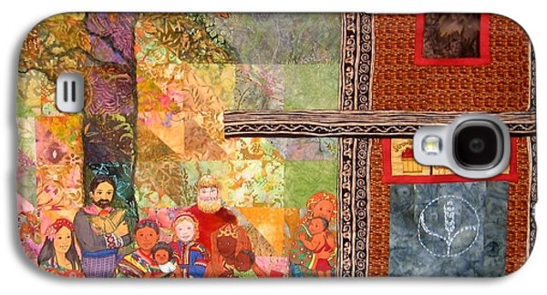 People Tapestries - Textiles Galaxy S4 Cases - The Gathering Place Galaxy S4 Case by Carol Bridges