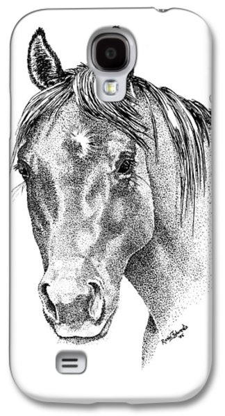 The Gentle Eye Horse Head Study Galaxy S4 Case by Renee Forth-Fukumoto