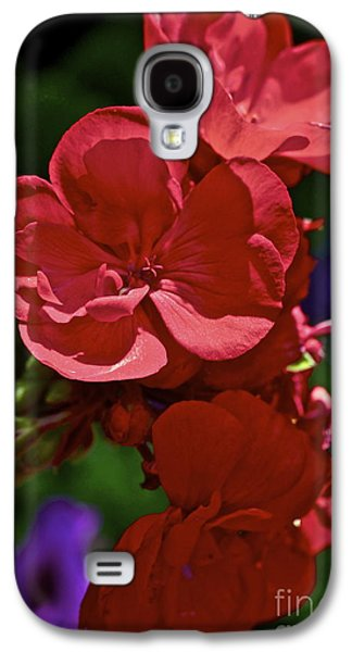 Red Geraniums Galaxy S4 Cases - The Geraniums Galaxy S4 Case by Gwyn Newcombe