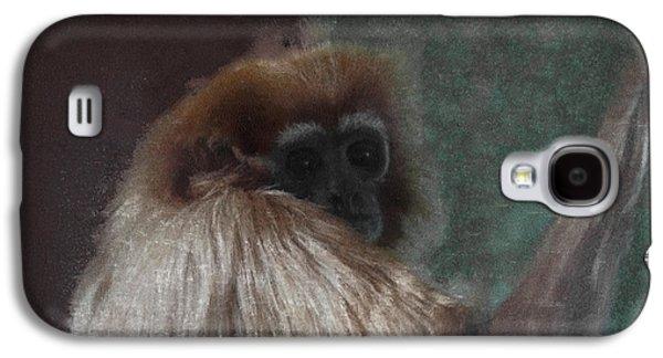 Ape Digital Art Galaxy S4 Cases - The Gibbon Galaxy S4 Case by Ernie Echols