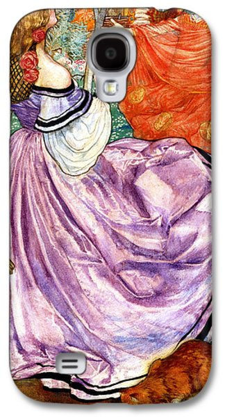 Woman In A Dress Galaxy S4 Cases - The Gilded Apple Galaxy S4 Case by Eleanor Fortescue Brickdale