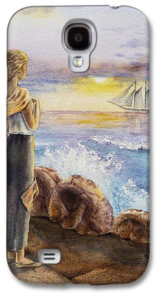 Girl Galaxy S4 Cases - The Girl And The Ocean Galaxy S4 Case by Irina Sztukowski