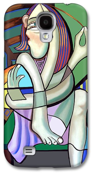 Modern Abstract Galaxy S4 Cases - The Girl Next Door Galaxy S4 Case by Anthony Falbo
