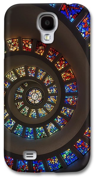 Religious Glass Art Galaxy S4 Cases - The Glory Window in Thanks-Giving-Square Dallas Galaxy S4 Case by Mountain Dreams