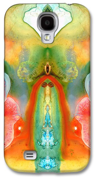Dreamscape Galaxy S4 Cases - The Goddess - Abstract Art by Sharon Cummings Galaxy S4 Case by Sharon Cummings