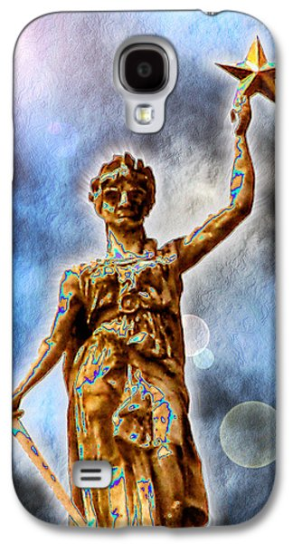 Photo Manipulation Galaxy S4 Cases - The Goddess of Liberty - Texas State Capitol Galaxy S4 Case by Wendy J St Christopher