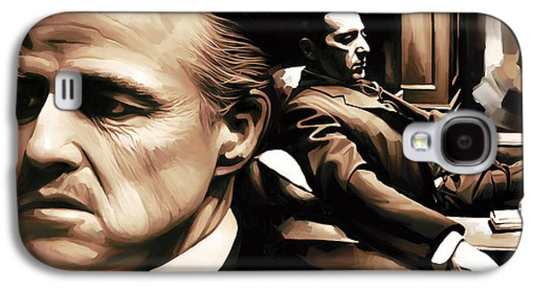 The Godfather Galaxy S4 Cases - The Godfather Artwork Galaxy S4 Case by Sheraz A