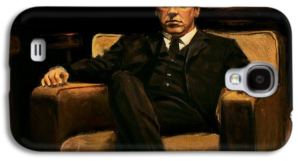 Corruption Paintings Galaxy S4 Cases - The Godfather Galaxy S4 Case by Christopher Panza