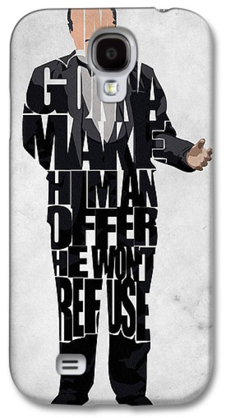 The Godfather Galaxy S4 Cases - The Godfather Inspired Don Vito Corleone Typography Artwork Galaxy S4 Case by Ayse Deniz