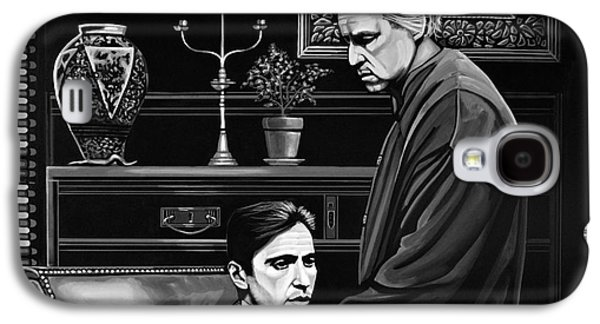 United States Paintings Galaxy S4 Cases - The Godfather  Galaxy S4 Case by Paul Meijering