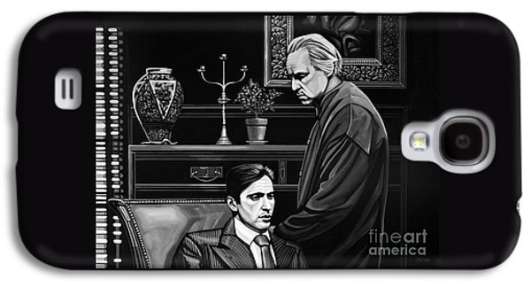 Boss Paintings Galaxy S4 Cases - The Godfather  Galaxy S4 Case by Paul Meijering
