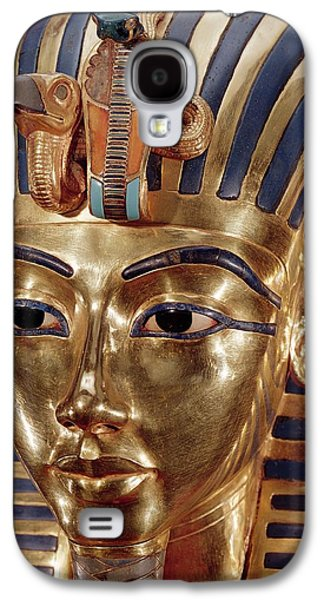 Ancient Galaxy S4 Cases - The Gold Mask, From The Treasure Of Tutankhamun C.1370-52 Bc C.1340 Bc Gold Inlaid Galaxy S4 Case by Egyptian 18th Dynasty