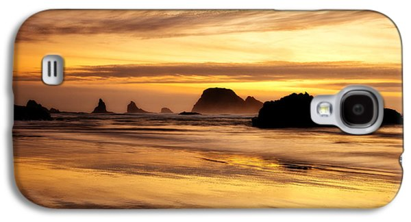 Sunset Framed Prints Galaxy S4 Cases - The Golden Coast Galaxy S4 Case by Darren  White
