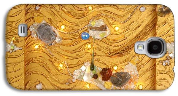 Light Reliefs Galaxy S4 Cases - The golden flow of light Galaxy S4 Case by Heidi Sieber
