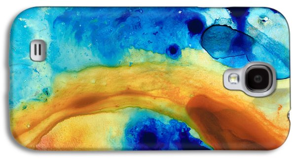 Abstract Art Canvas Paintings Galaxy S4 Cases - The Golden Gate - Abstract Art By Sharon Cummings Galaxy S4 Case by Sharon Cummings
