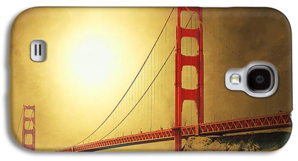 Architecture Mixed Media Galaxy S4 Cases - The Golden Gate Galaxy S4 Case by Wingsdomain Art and Photography