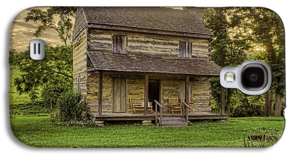 Log Cabin Photographs Galaxy S4 Cases - The Golden Hour Galaxy S4 Case by Heather Applegate