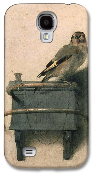 Colorful Paintings Galaxy S4 Cases - The Goldfinch Galaxy S4 Case by Carel Fabritius