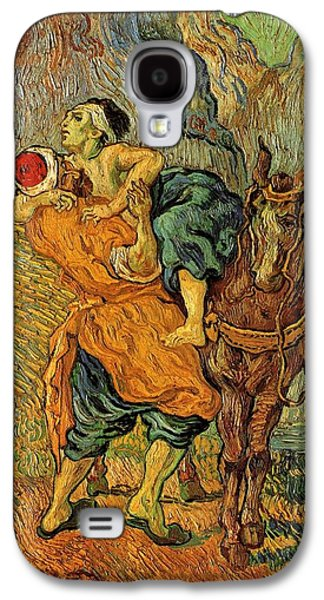 Delacroix Galaxy S4 Cases - The Good Samaritan after Delacroix 1890 Galaxy S4 Case by Vincent Van Gogh