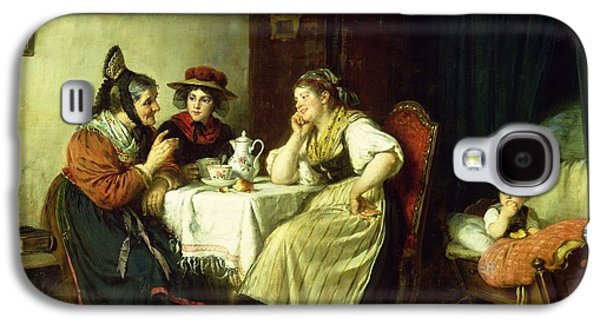 Rosary Galaxy S4 Cases - The Gossips, 1887 Oil On Canvas Galaxy S4 Case by Rudolf Epp