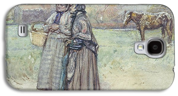 Shawl Galaxy S4 Cases - The Gossips Wc Galaxy S4 Case by George John Pinwell