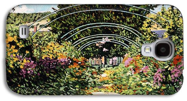 Gardenscapes Galaxy S4 Cases - The Grande Alle Monets Garden Galaxy S4 Case by David Lloyd Glover