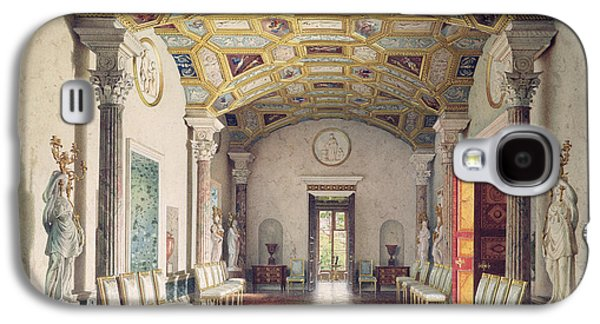 Neo Galaxy S4 Cases - The Great Agate Hall In The Catherine Palace At Tsarskoye Selo, 1859 Wc & White Colour On Paper Galaxy S4 Case by Luigi Premazzi
