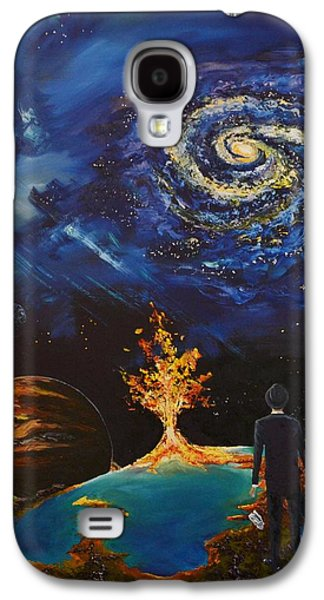 Constellations Paintings Galaxy S4 Cases - The Hereafter Beckons Galaxy S4 Case by Ember Canada