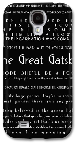 20s Galaxy S4 Cases - The Great Gatsby Quotes Galaxy S4 Case by Nomad Art And  Design