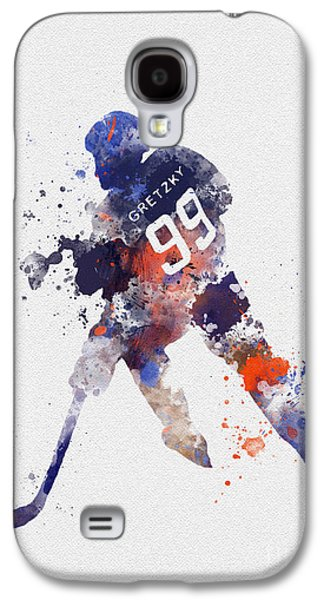 Hockey Mixed Media Galaxy S4 Cases - The Great One Galaxy S4 Case by Rebecca Jenkins