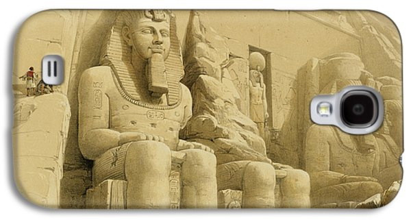 Facade Galaxy S4 Cases - The Great Temple of Abu Simbel Galaxy S4 Case by David Roberts