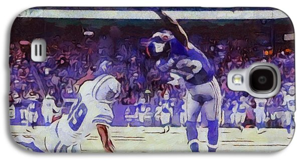 Wide Receiver Galaxy S4 Cases - The Greatest Catch Odell Beckham Galaxy S4 Case by Dan Sproul