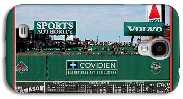 Red Sox Art Galaxy S4 Cases - The Green Monster Fenway Park Galaxy S4 Case by Tom Prendergast